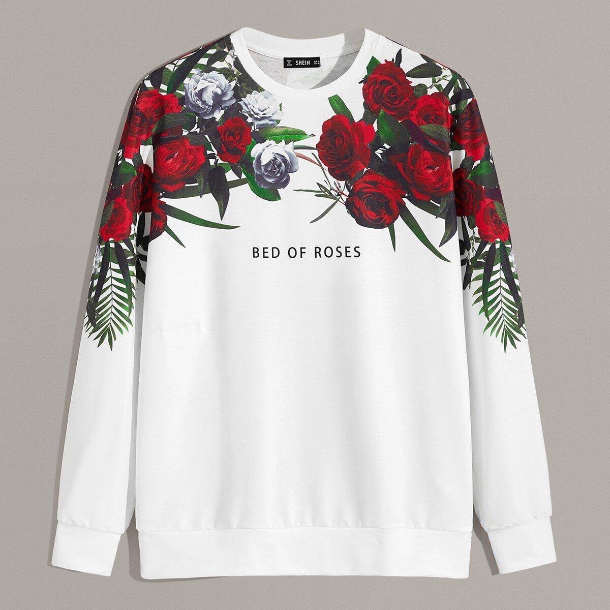 Мужской Пуловер С Оригинальным Принтом от SHEIN