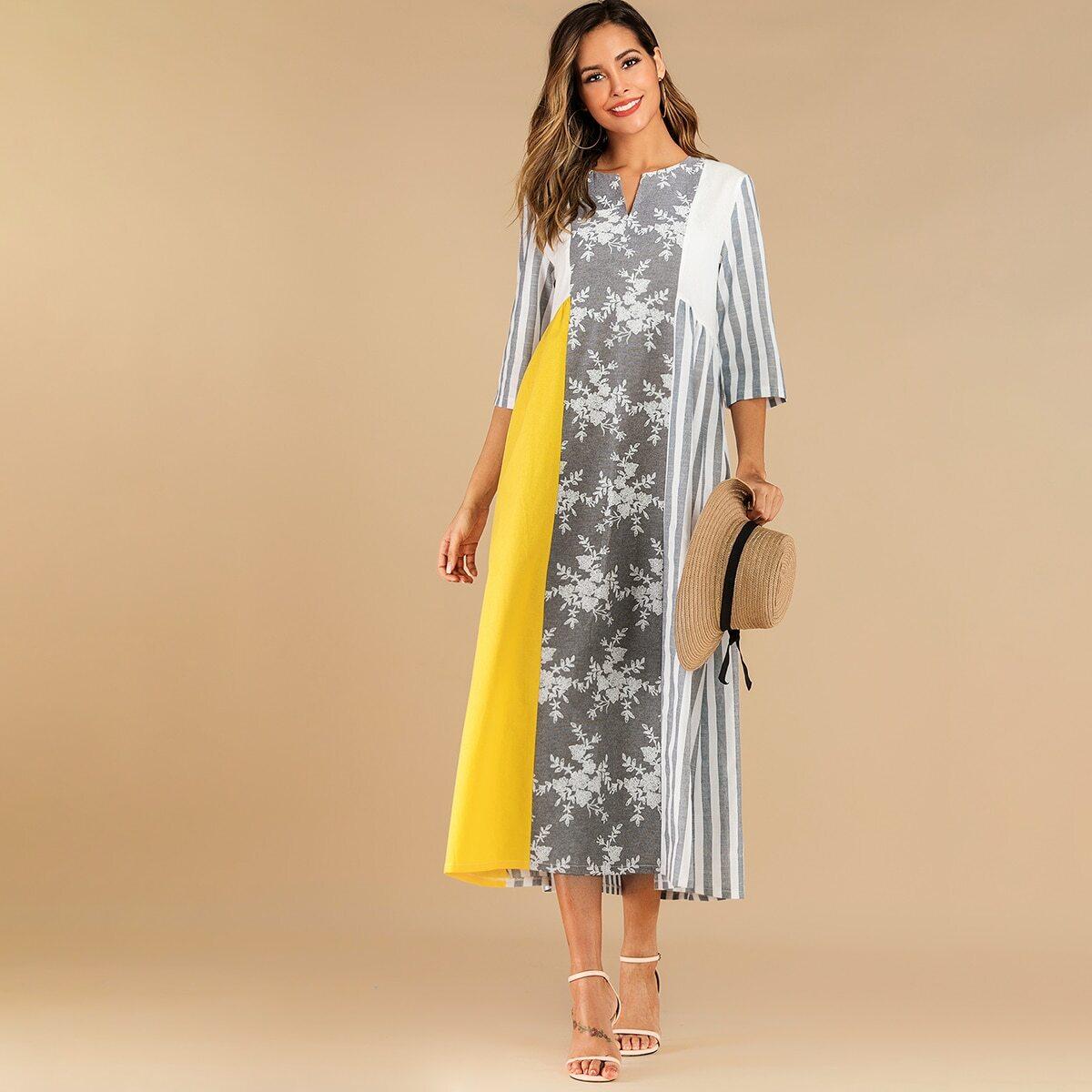 Стильное контрастное платье Image