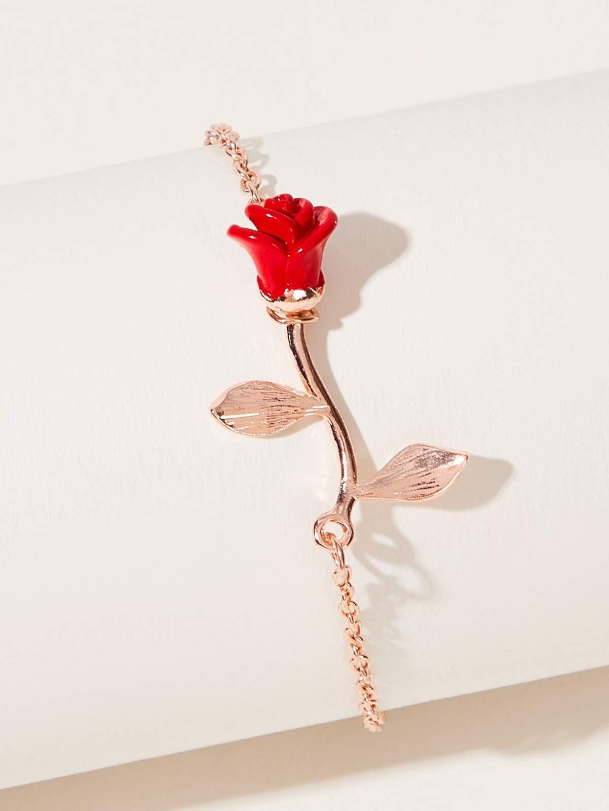 玫瑰 設計 手鍊  1pc