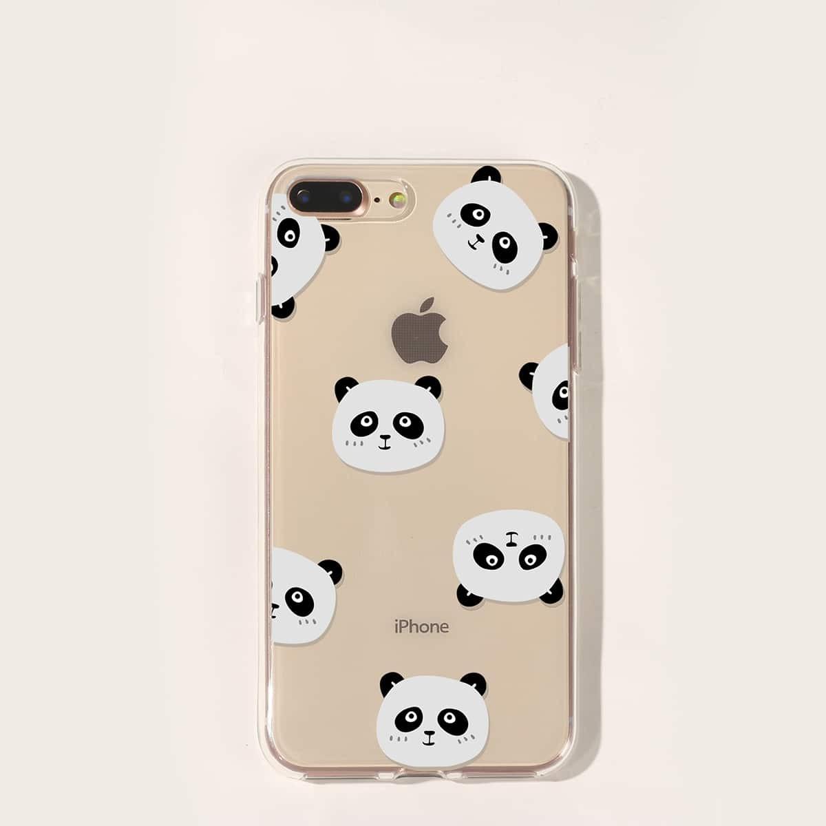 SHEIN / IPhone Hülle mit Panda Muster