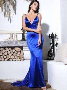 Length | Ruched | Floor | Satin | Dress | Slip
