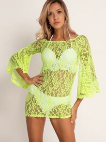 Sleeve | Sheer | Cover | Green | Neon | Lace | Up