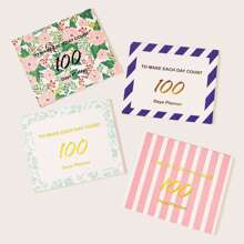 100-day Countdown Schedule Memo Pad 1pack