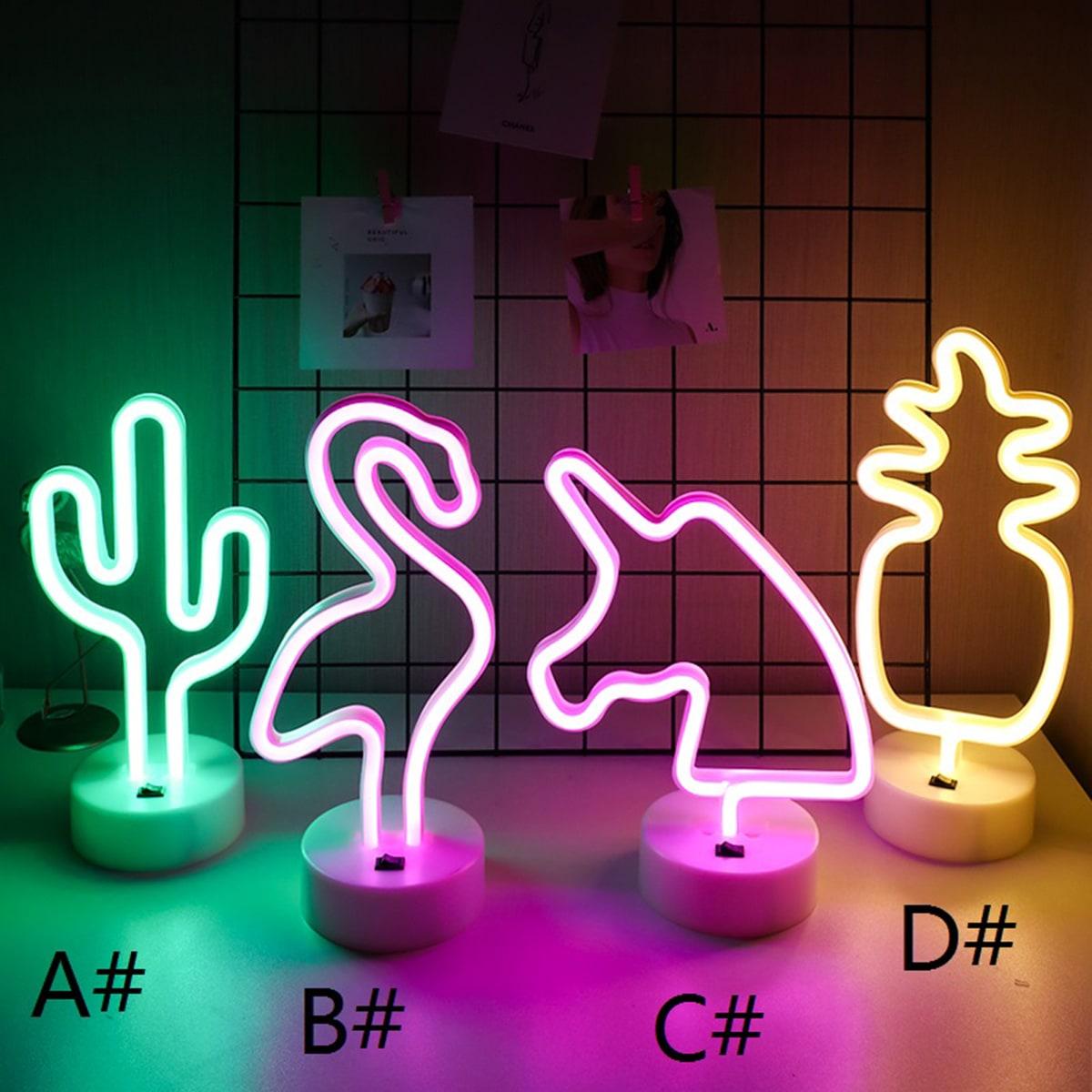 Cactus & ananas gevormde nachtlamp 1 st