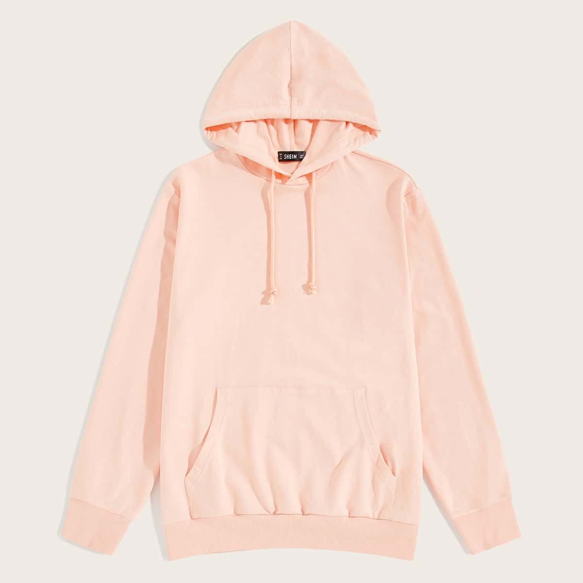 Roze  Casual Koord Vlak Sweatshirts voor heren