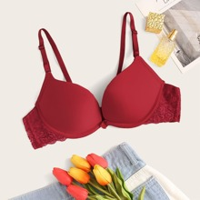 Floral Lace Push Up Underwire Bra
