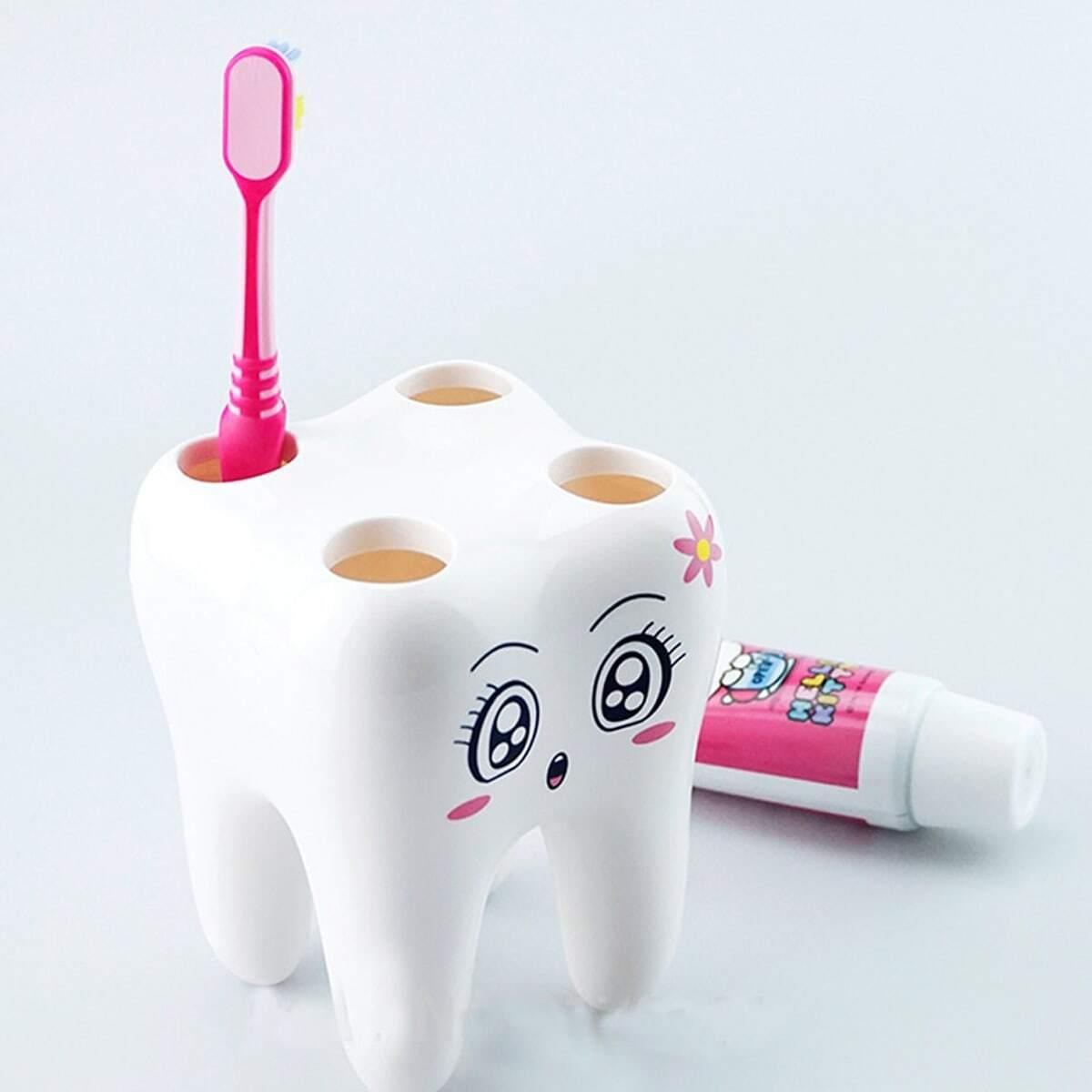 Wit Tandenborstel houder/rekje Badkamer opslag