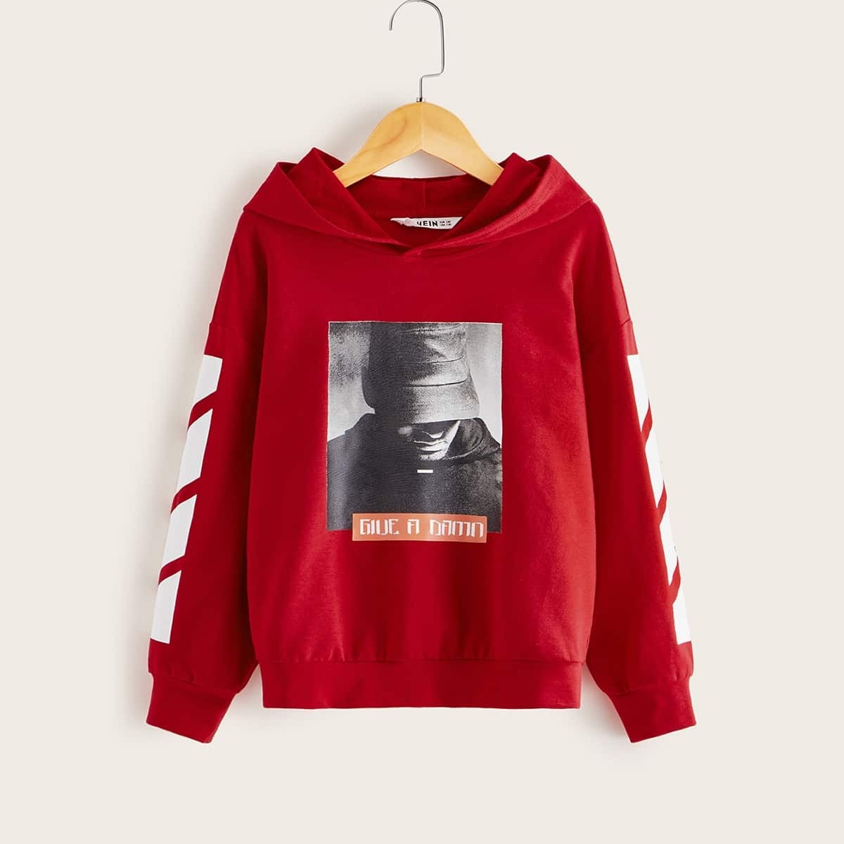 Rood Casual Gestreept Jongens Sweatshirts