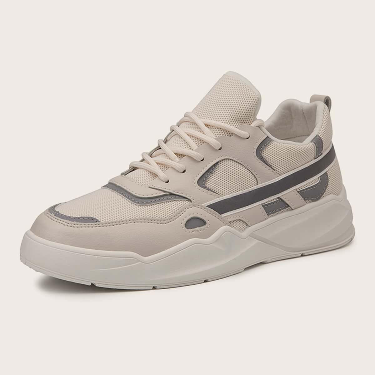 Beige Comfortabel Kant Heren sneakers