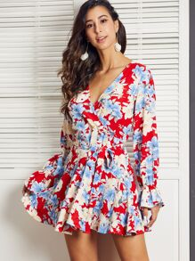 Floral   Dress   Print   Belt