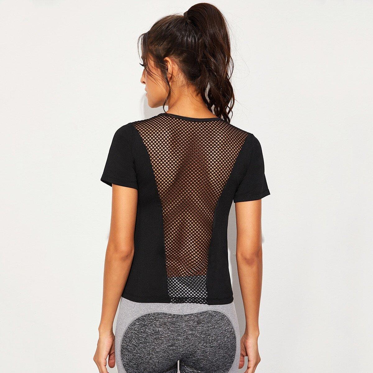 Zwart Vlak Sport T-shirts