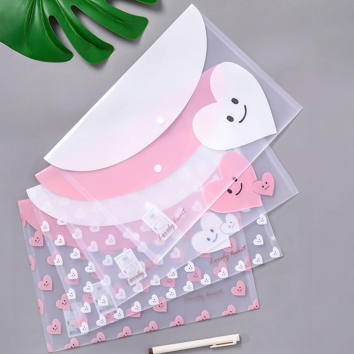 Willekeurige smile Heart Print-bestandstas 1 st
