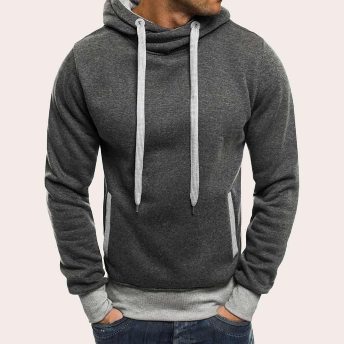 Grijs Sporten Koord Vlak Sweatshirts voor heren
