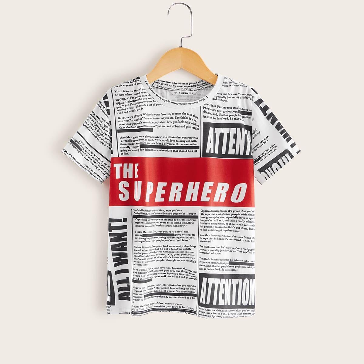 Zwart & wit Casual Tekst Shirts jongens