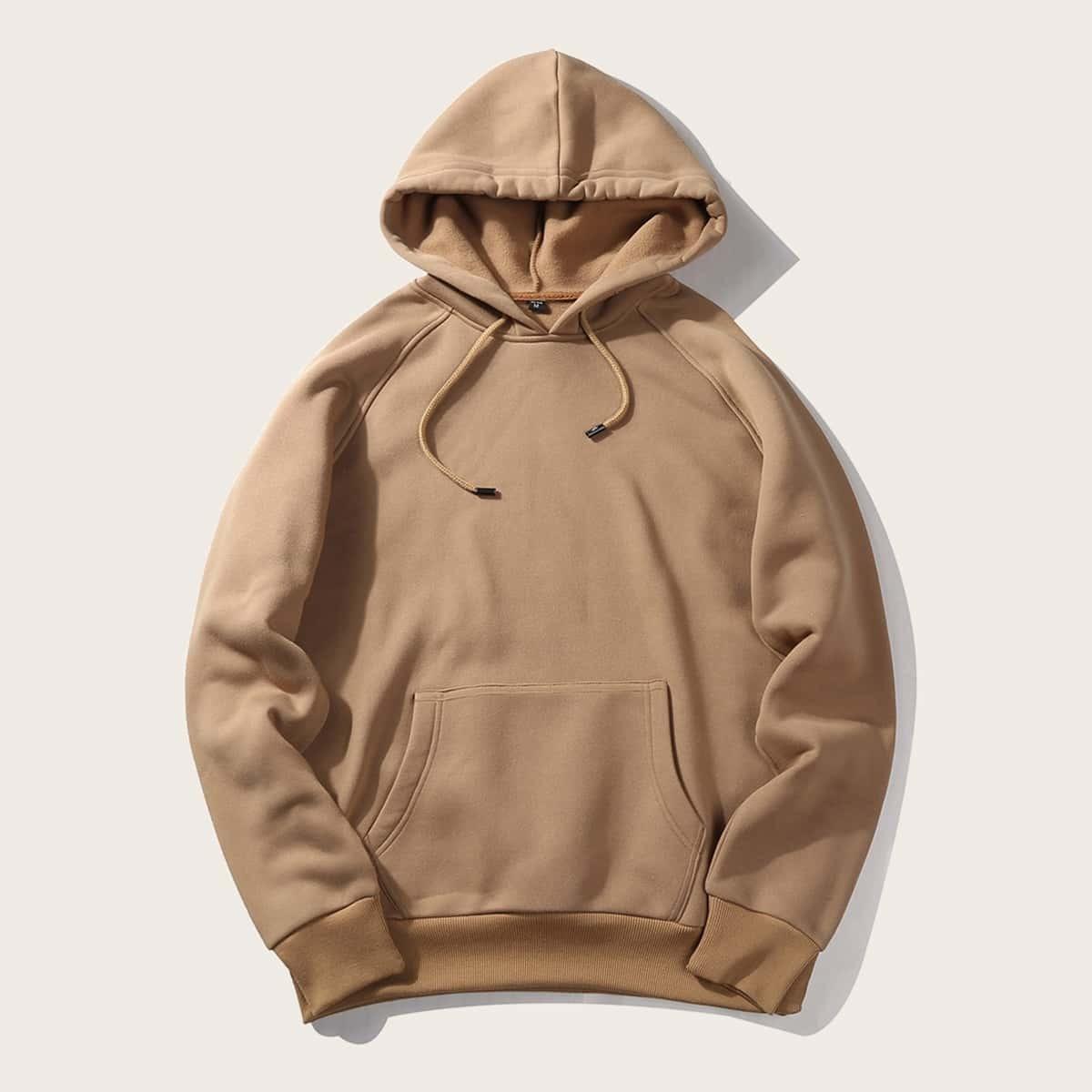 Khaki Casual Koord Vlak Sweatshirts voor heren