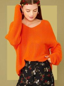 Shoulder | Sweater | Orange | Neon