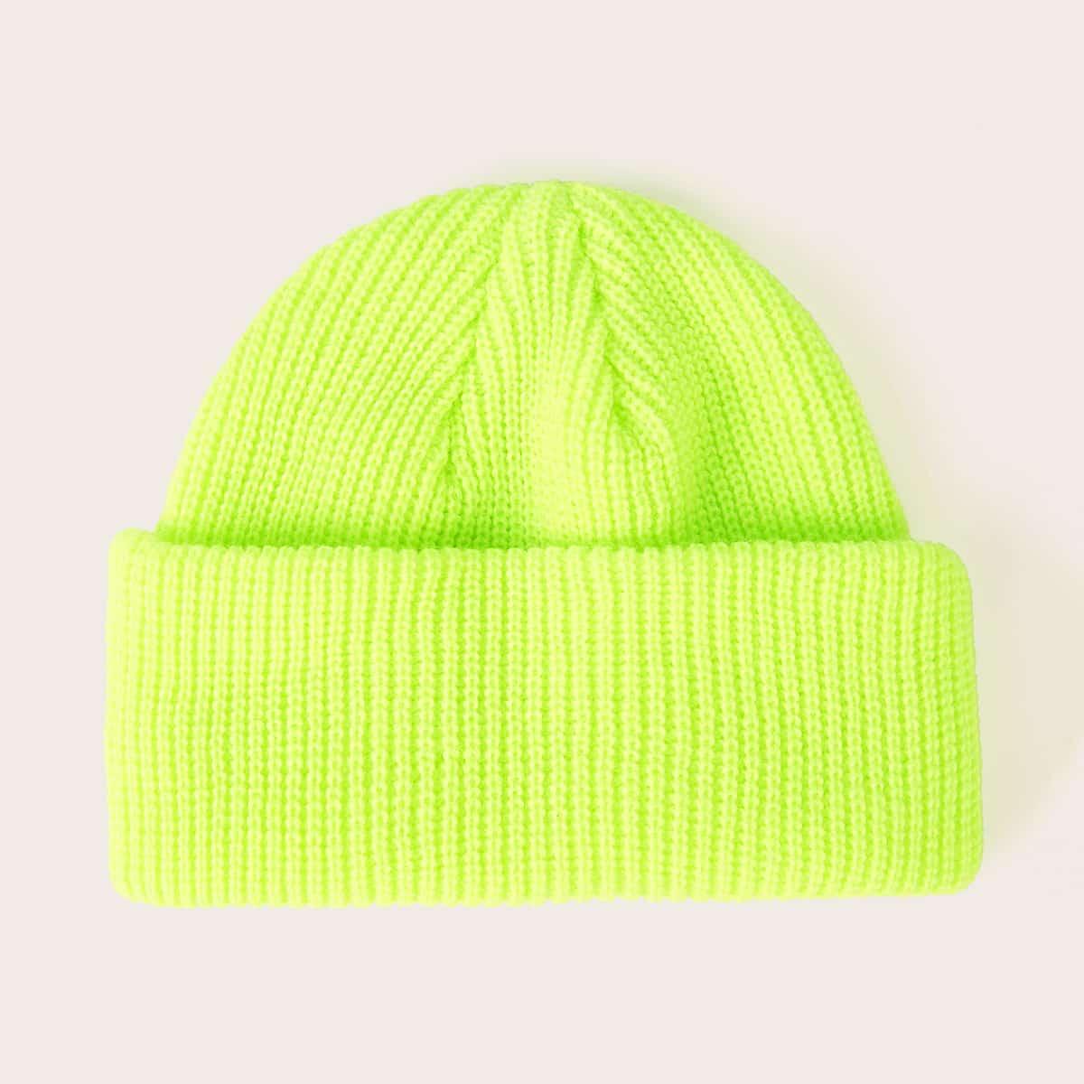 Neon groene manchet hoed