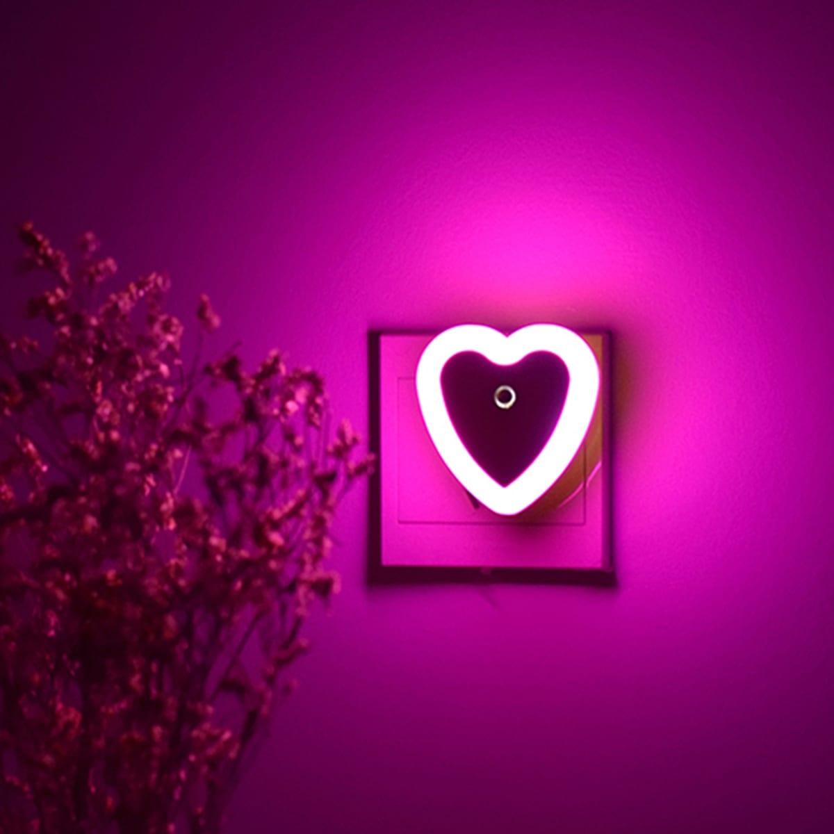 Hartvormig nachtlampje 1 st