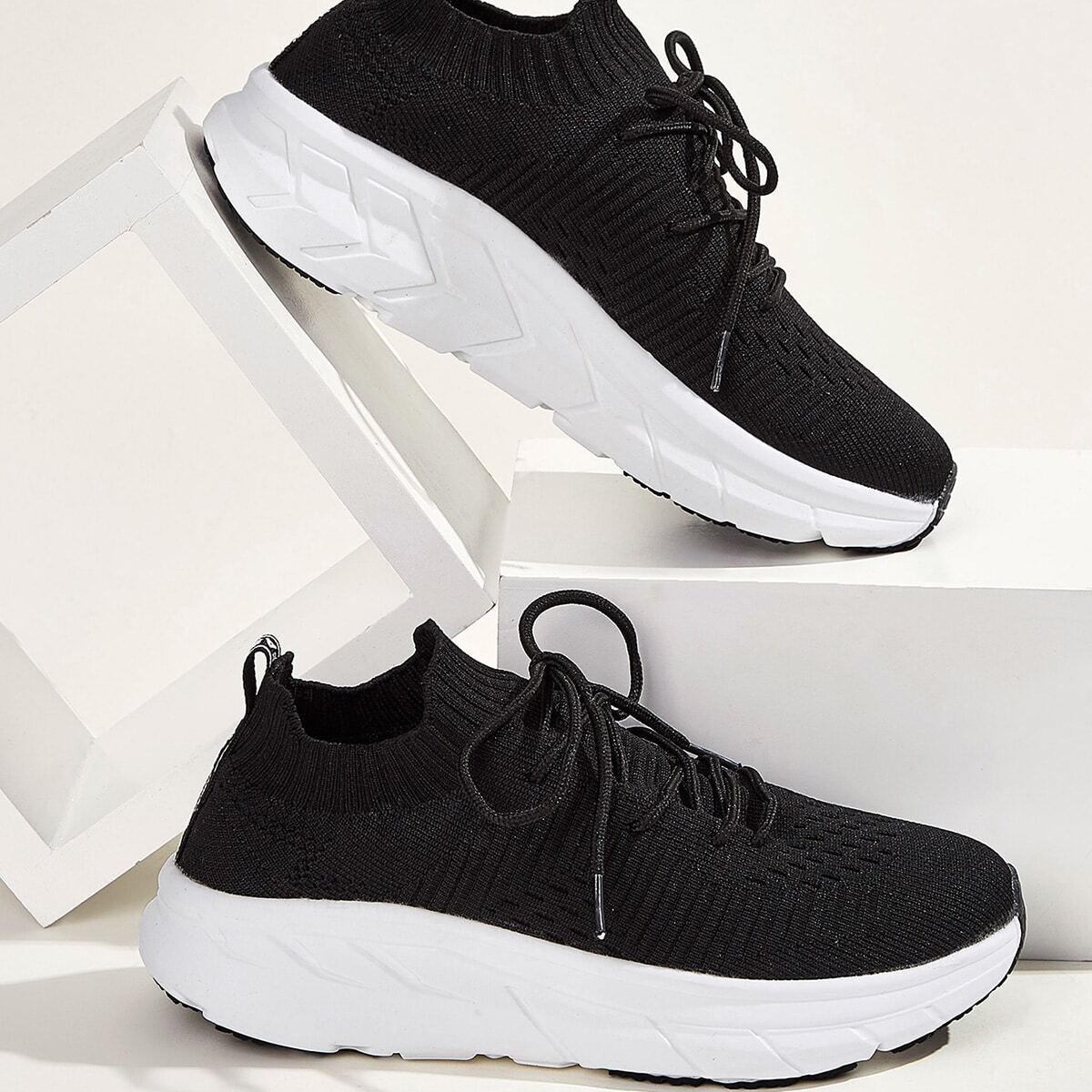 Zwart Comfortabel Vlak sneakers Kant