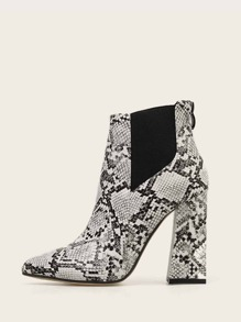 Multicolor Glamorous Snakeskin Print Other Winter Boots, size features are:Bust: ,Length: ,Sleeve Length: