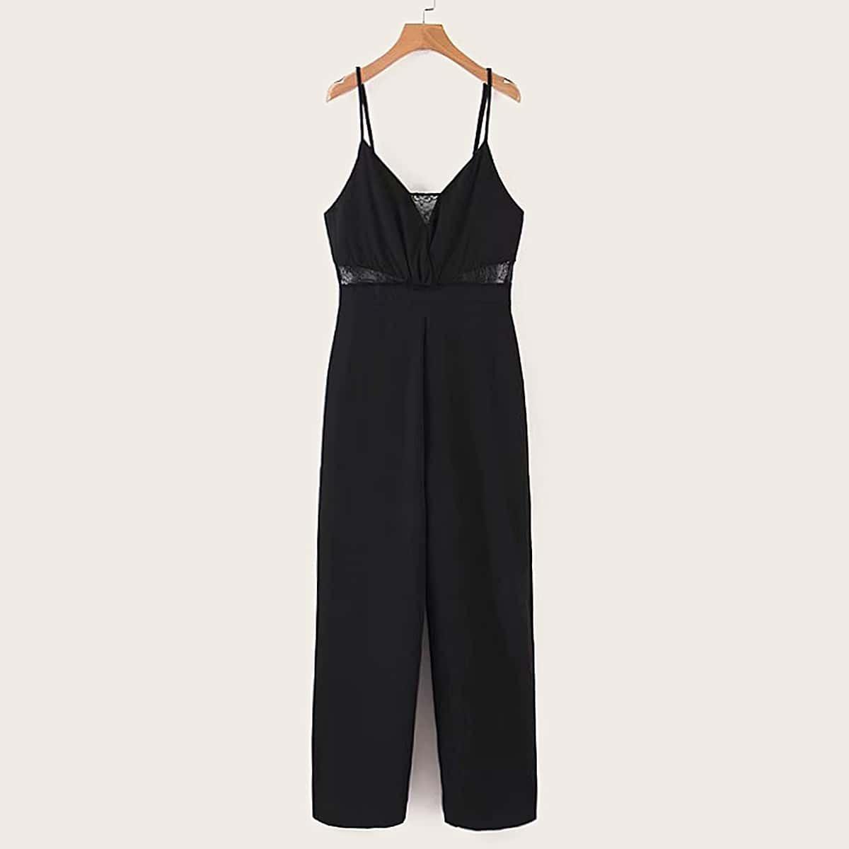 SHEIN / Cami Jumpsuit mit Spitzen und Reißverschluss hinten
