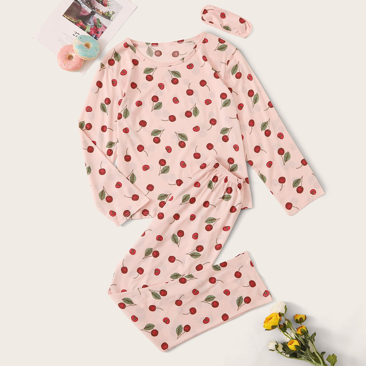 Roze  Schattig Fruit & groenten Lounge kleding