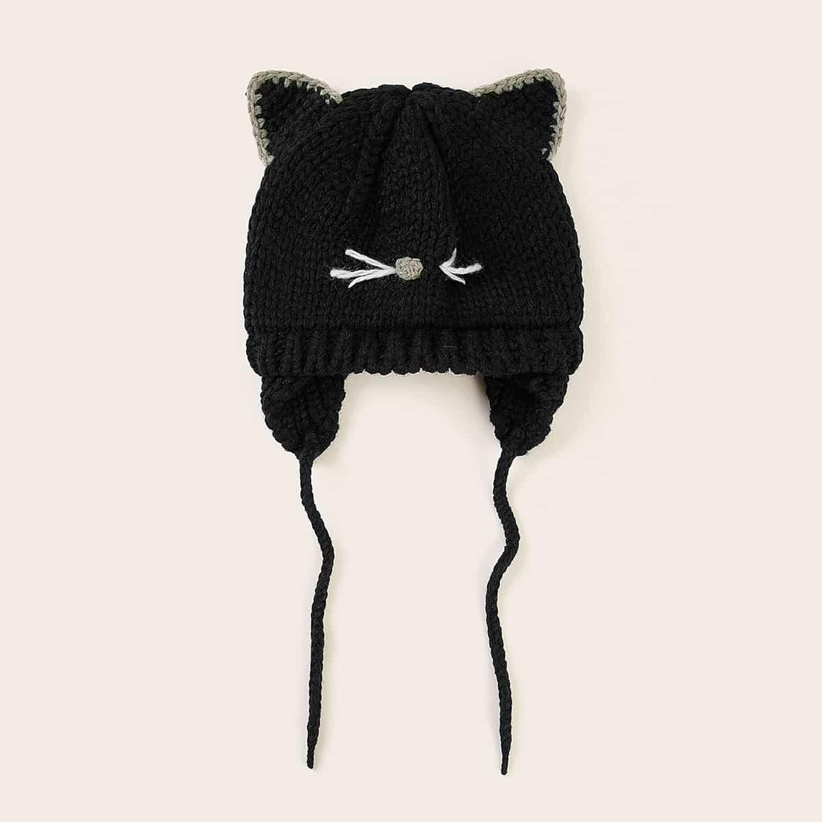 Toddler Kids Cat Design-hoed met trekkoord