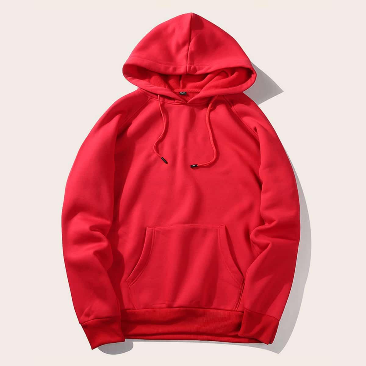 Rood Casual Koord Vlak Sweatshirts voor heren