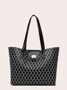 Twist   Lock   Tote   Bag