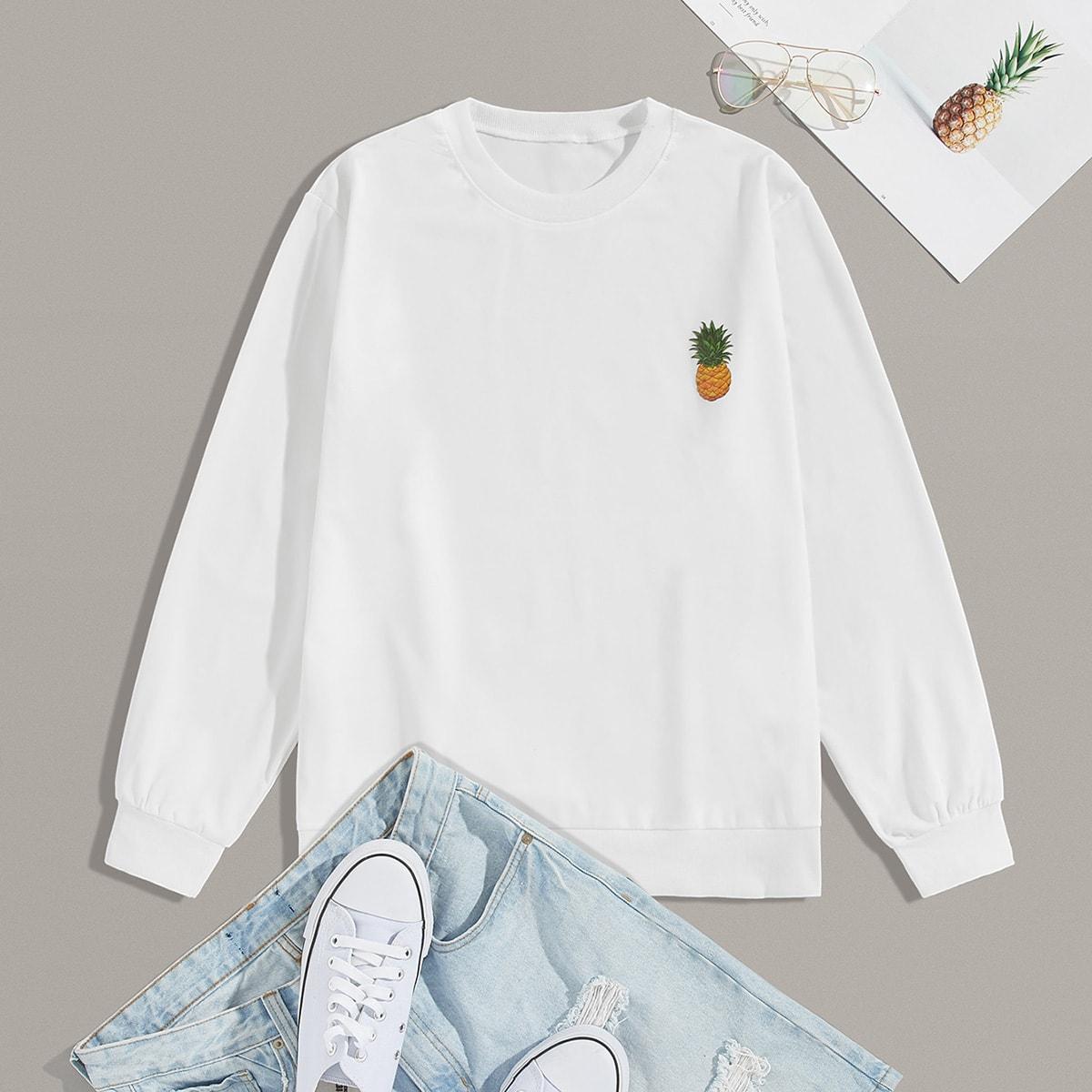 Wit Casual Fruit & groenten Sweatshirts voor heren