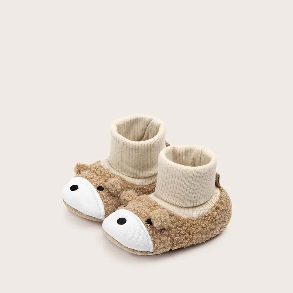 Baby Meisjes Fluffy Bear Design Flats
