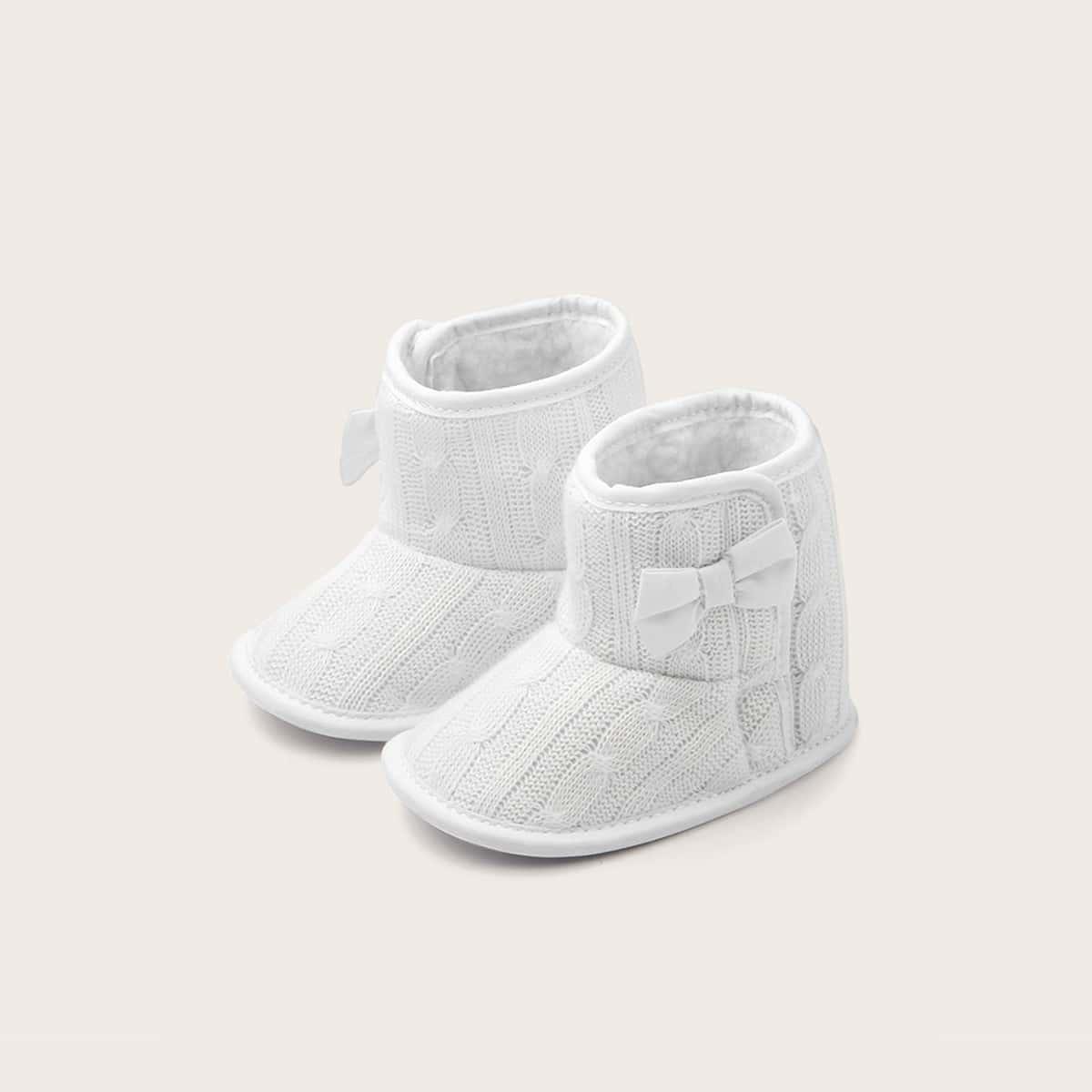 Laarzen met strikknopen voor babymeisjes
