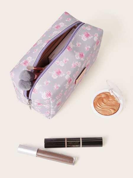 Ditsy Floral Pattern Makeup Bag