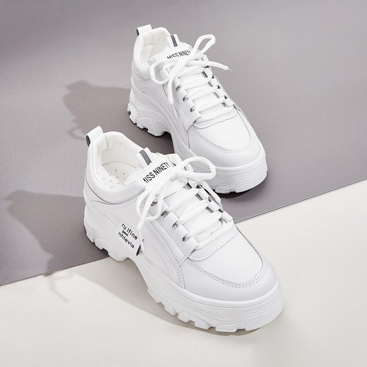 Wit Comfortabel sneakers Kant