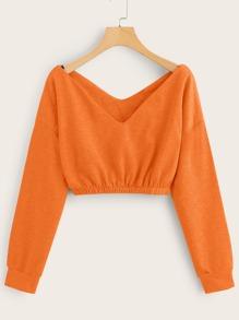 Sweatshirt | Shoulder | Orange | Neon
