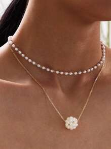 Necklace | Charm | Pearl | Faux