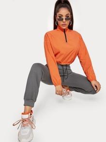 Drawstring | Orange | Jacket | Neon