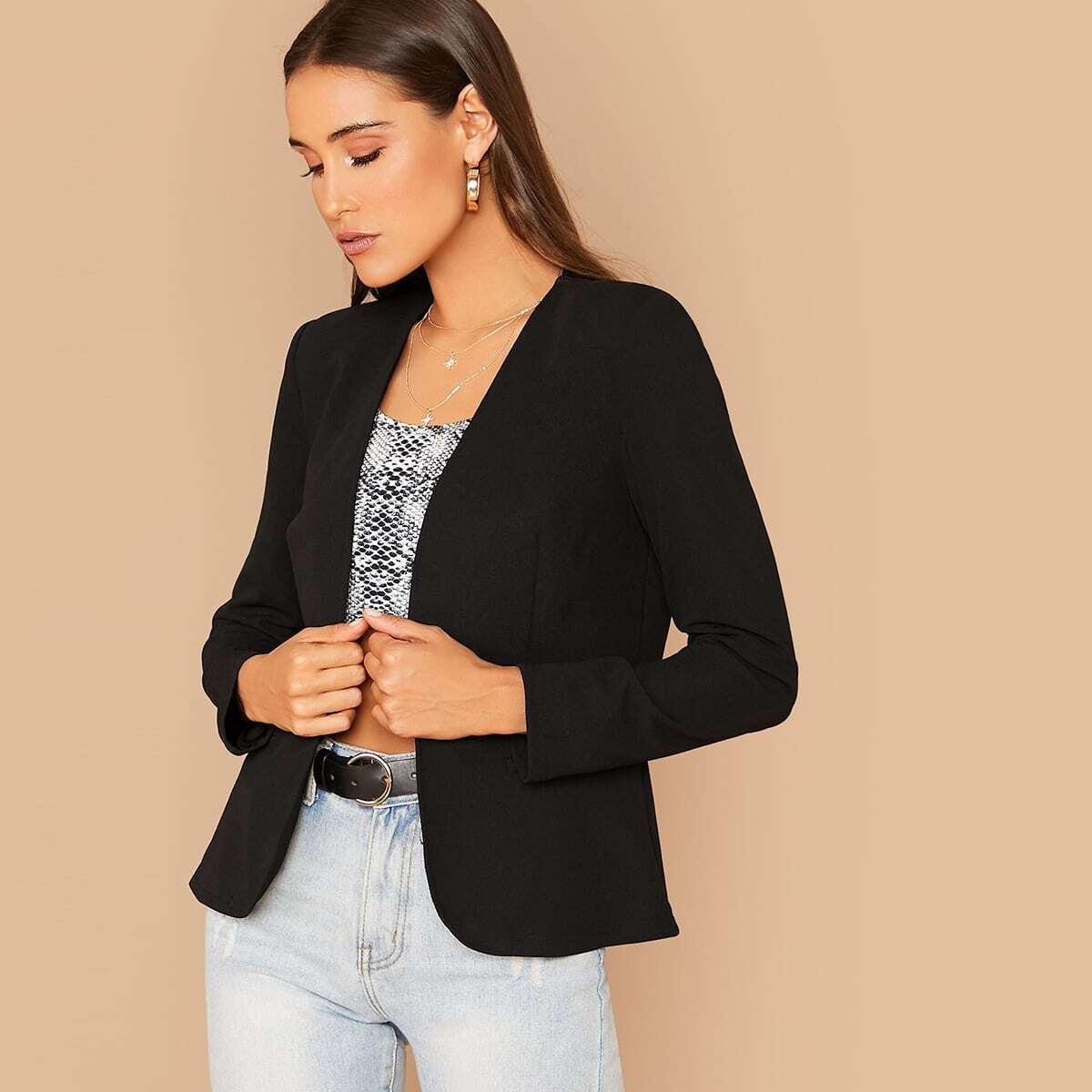 Однотонный пиджак от SHEIN