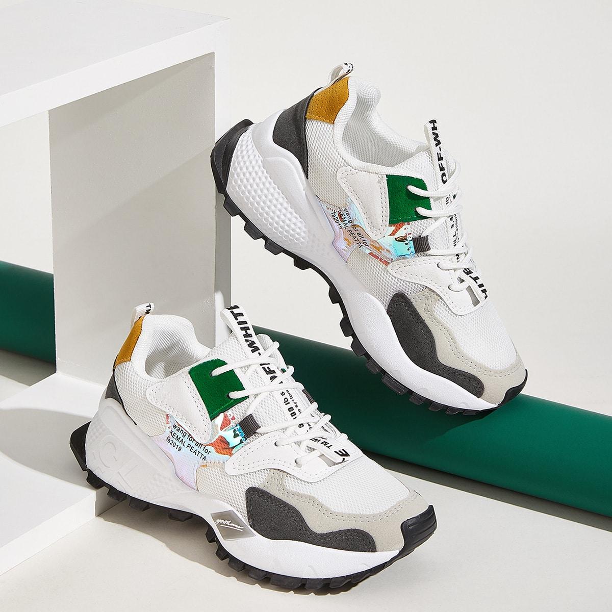 Veel kleurig Comfortabel sneakers Kant