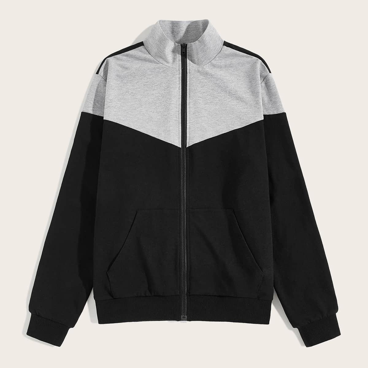 Zwart Sporten Rits Sweatshirts voor heren