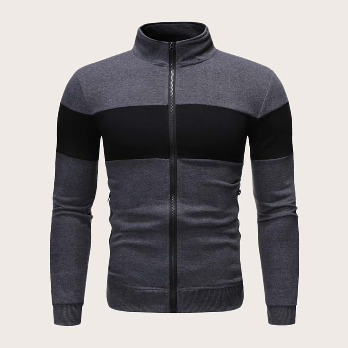 Grijs Casual Rits Sweatshirts voor heren