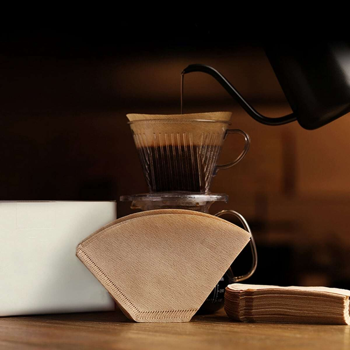 100 piezas papel de filtro de café