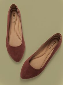 Suede | Point | Shoe | Flat | Toe