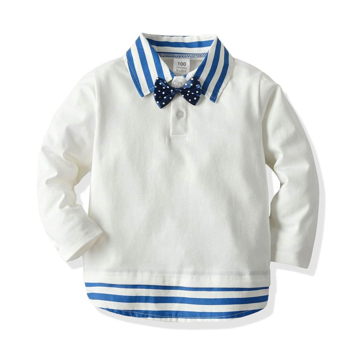 Wit School  Gestreept Kleuterjongen polo shirtjes Boog