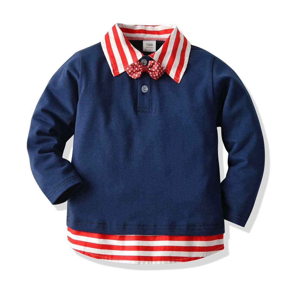 Marine School  Gestreept Kleuterjongen polo shirtjes Boog