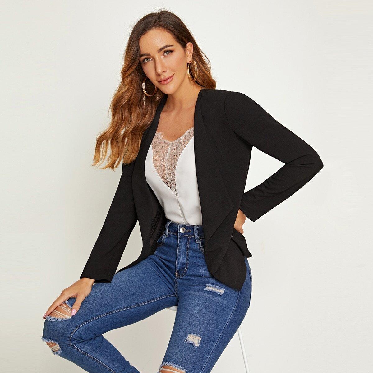 Модный пиджак на молнии от SHEIN