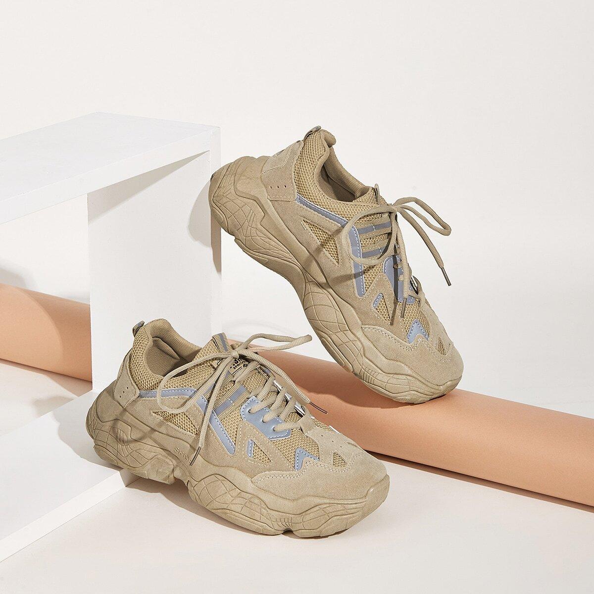 Khaki Comfortabel Kant Heren sneakers
