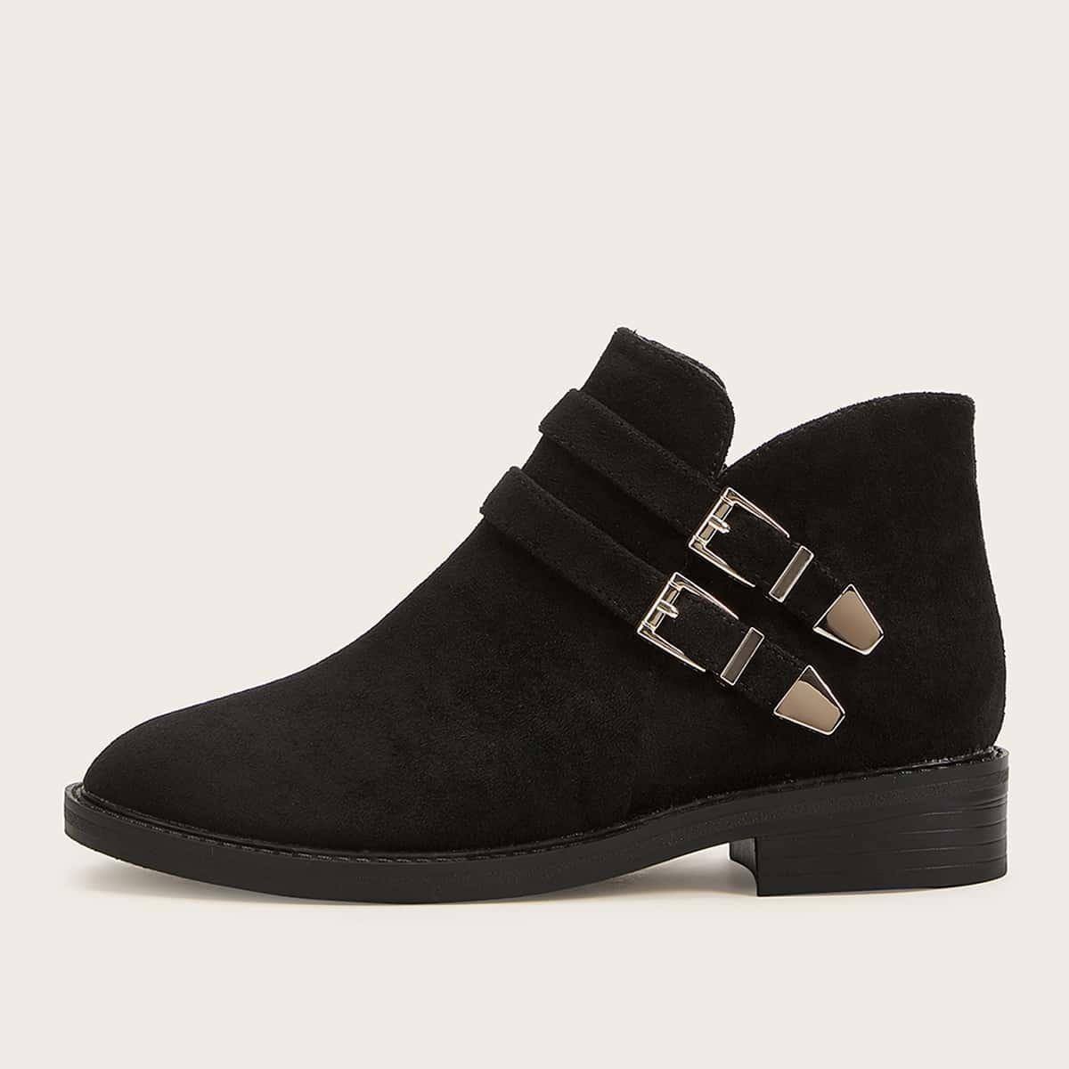 Zwart Comfortabel Laarzen Gesp