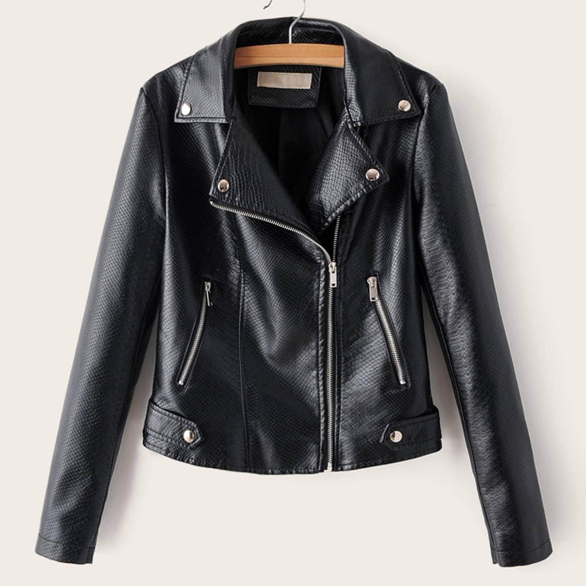 Куртка из искусственной кожи на молнии