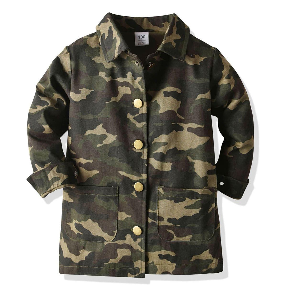 Veel kleurig Casual Camouflage Jassen kleuters-jongens Zak